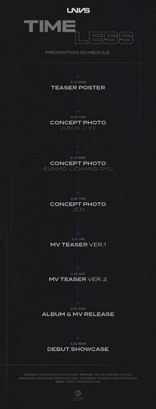 23일(일), UNVS(유엔브이에스) 데뷔 앨범 'TIMELESS' 발매 | 인스티즈