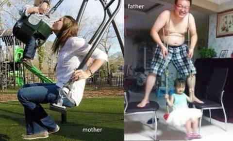 엄마와 아빠의 육아차이.jpgif | 인스티즈