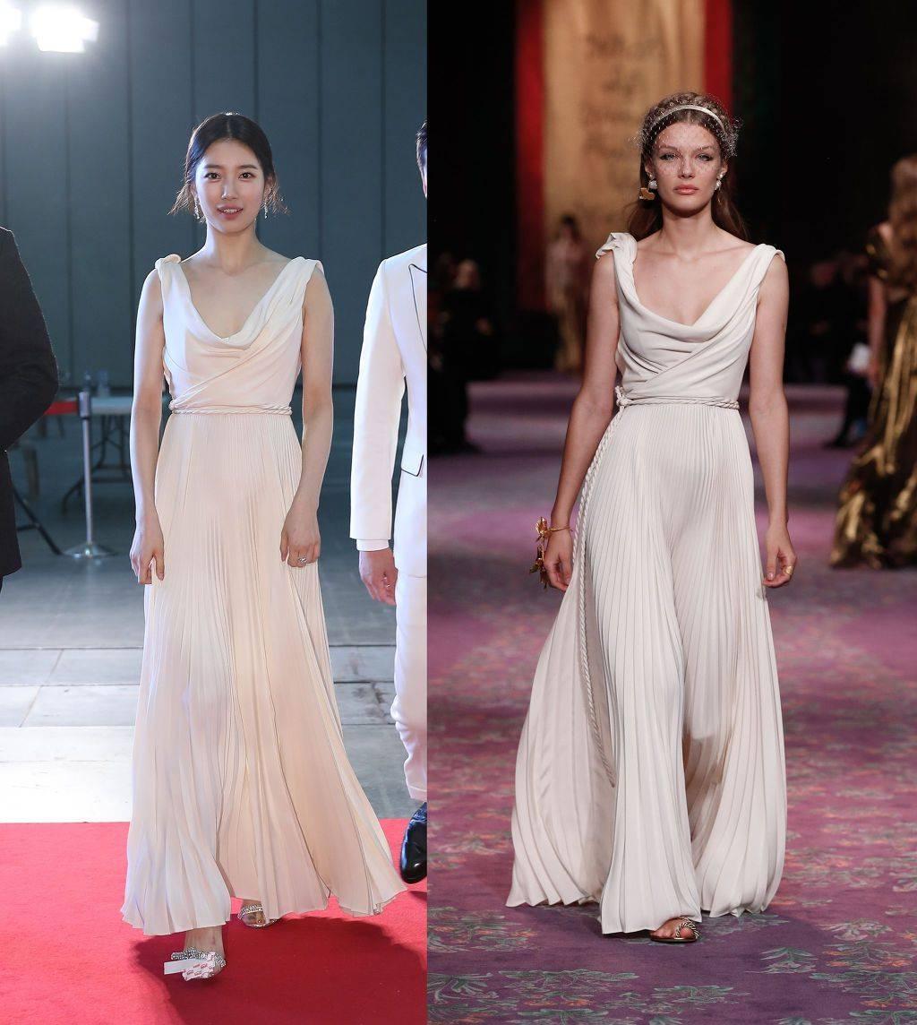 수지가 백상예술대상에서 입은 디올 드레스의 숨겨진 비밀 | 인스티즈