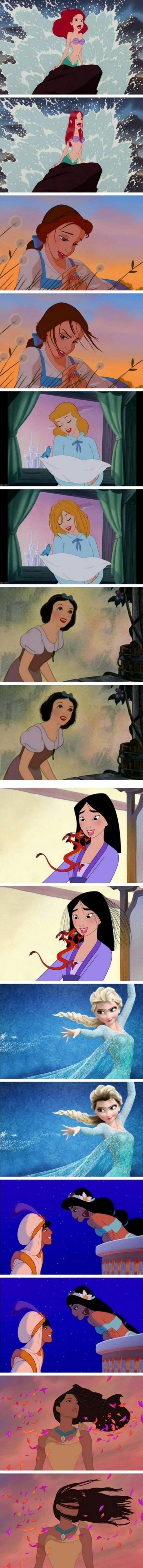 디즈니공주들 현실헤어스타일   인스티즈