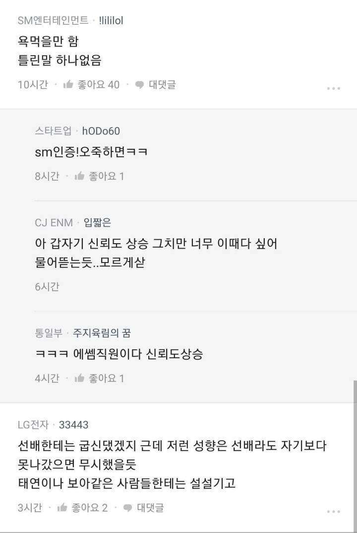 SM 직원 블라인드 | 인스티즈