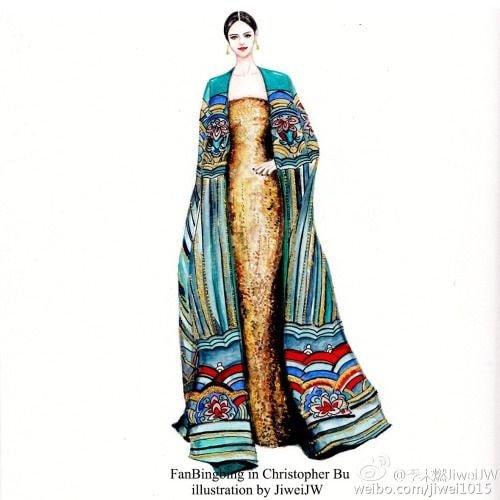 5년전 멧갈라에서 한국 단청무늬 드레스 입은 판빙빙.jpg | 인스티즈