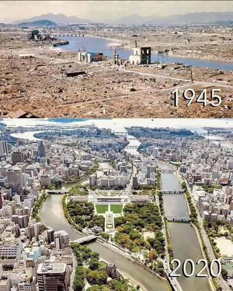원자폭탄 맞은 히로시마 | 인스티즈