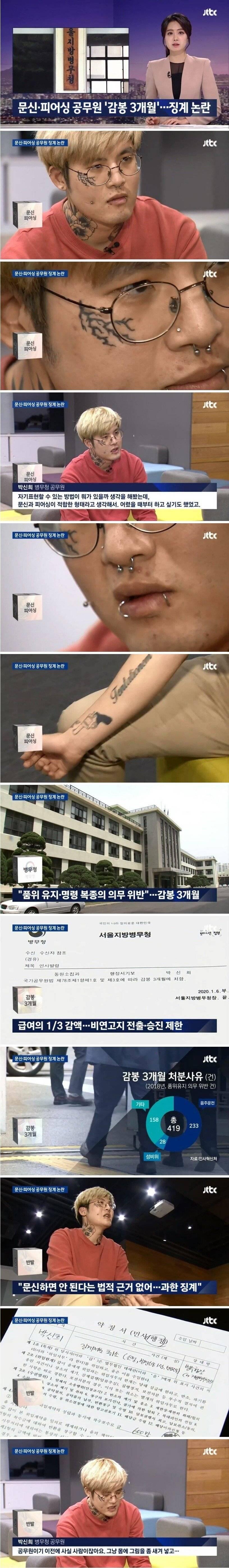 문신,피어싱으로 징계받은 공무원 논란.jpg | 인스티즈