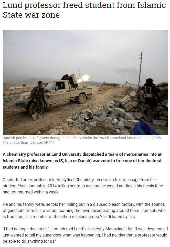 IS에 의해 고립된 대학원생을 구한 지도교수   인스티즈