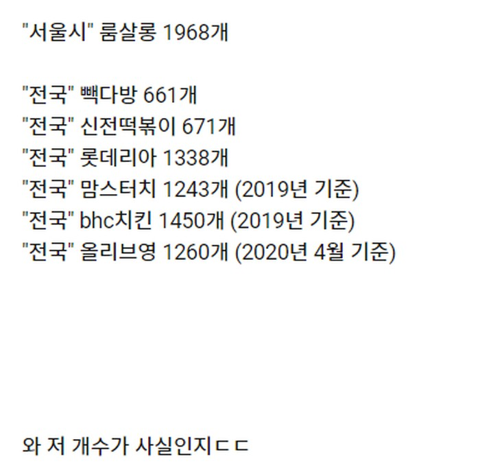 서울시 룸살롱 수량 체감   인스티즈