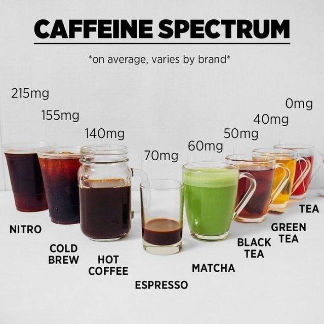 카페 음료 별 카페인 량..jpg | 인스티즈