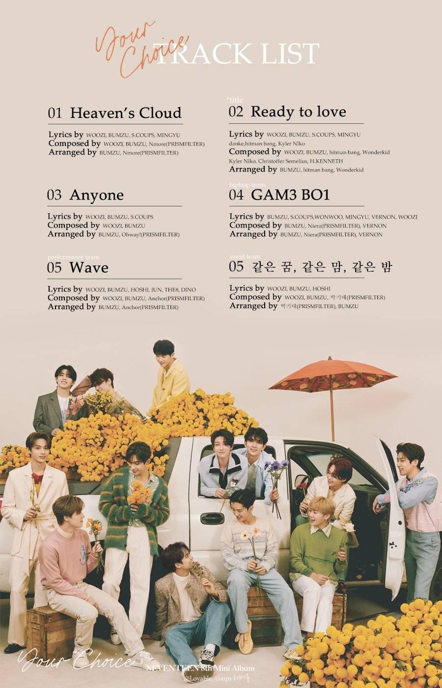 세븐틴 8th Mini Album Your Choice 하이라이트 메들리 | 인스티즈
