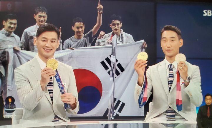 원우영 오열영상 보며 결승때 힘을 냈다는 구본길, 김정환 SBS뉴스 인터뷰   인스티즈