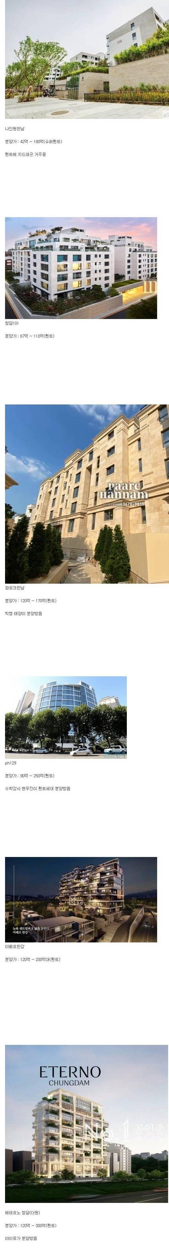 한국 초고가 아파트 | 인스티즈